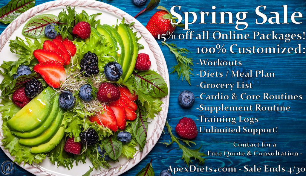 online personal training spring sale