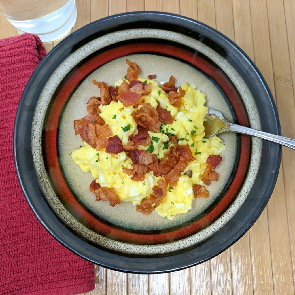 Epiphany Meal Prep eggs and bacon